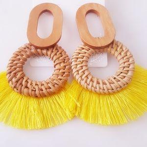 Jewelry - Circle Braid Fan Drop Earrings